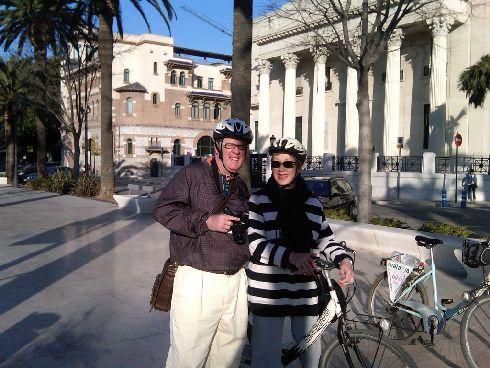 Велопрогулки по улочкам мартовской Малаги