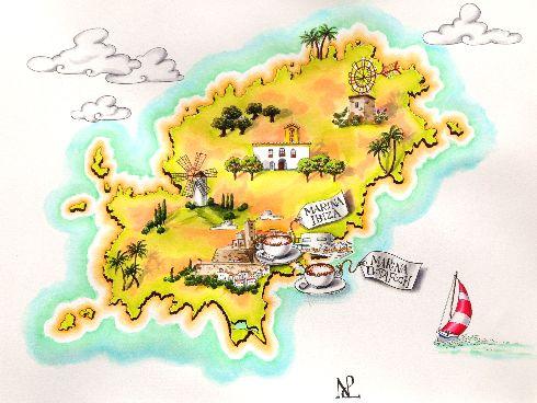 В ориентировании по Балеарским островам вам помогут наши карты!
