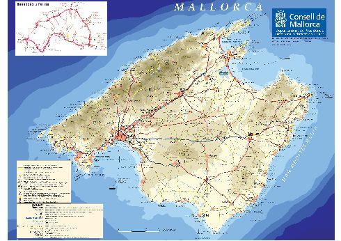 Подробная туристическая карта о. Майорка