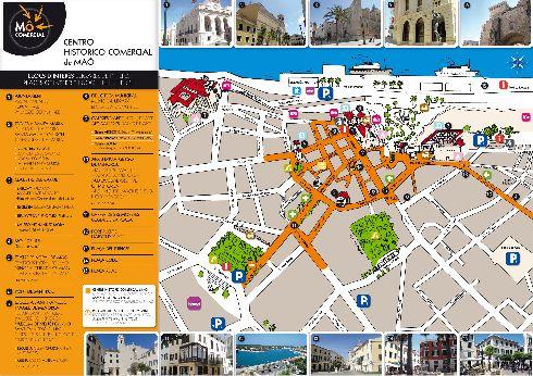 Карта-план с улицами и домами г. Маон