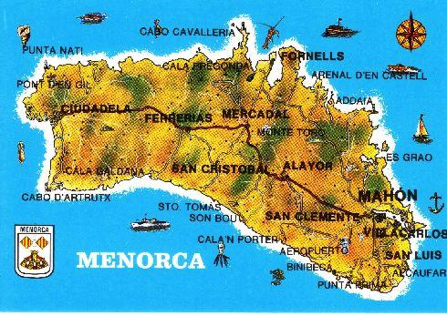 Художественная карта Менорки