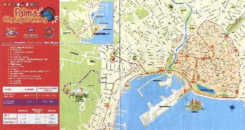 Схема движения туристических автобусных маршрутов