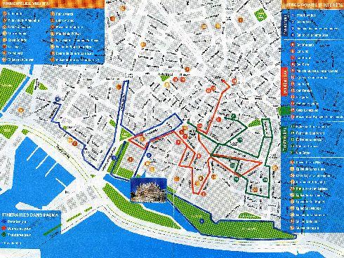План исторической части города Пальмы-де-Майорка