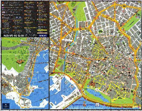 Подробная туристическая карта Пальма-де-Майорки