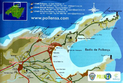 Туристическая схема-план курорта Пуэрто-Поленса