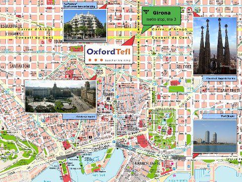 Иллюстрированная туристическая карта Барселоны