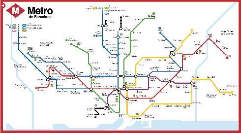 Карта барселонского метро