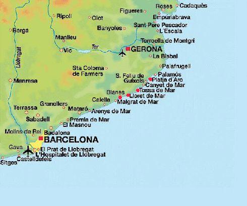 Барселона на побережье Средиземного моря