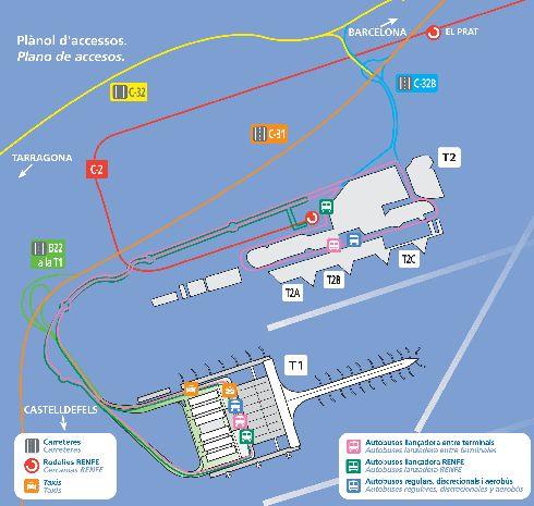 Планировка аэропорта ''Эль Прат''