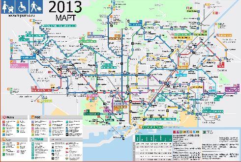 Транспортная схема Барселоны поможет спланировать оптимальный маршрут до нужного пункта назначения