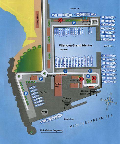 Яхтенная марина ''Vilanova Grand Marina''