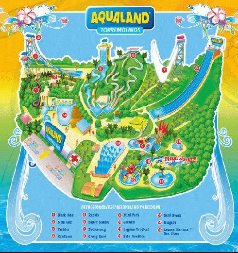 План аквапарка ''Aqua Land''