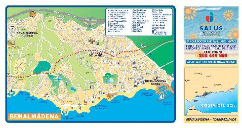 Детальная карта Бенальмадены