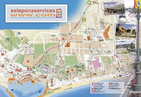 Туристическая карта г. Эстепона