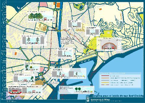 Схема исторического центра Малаги