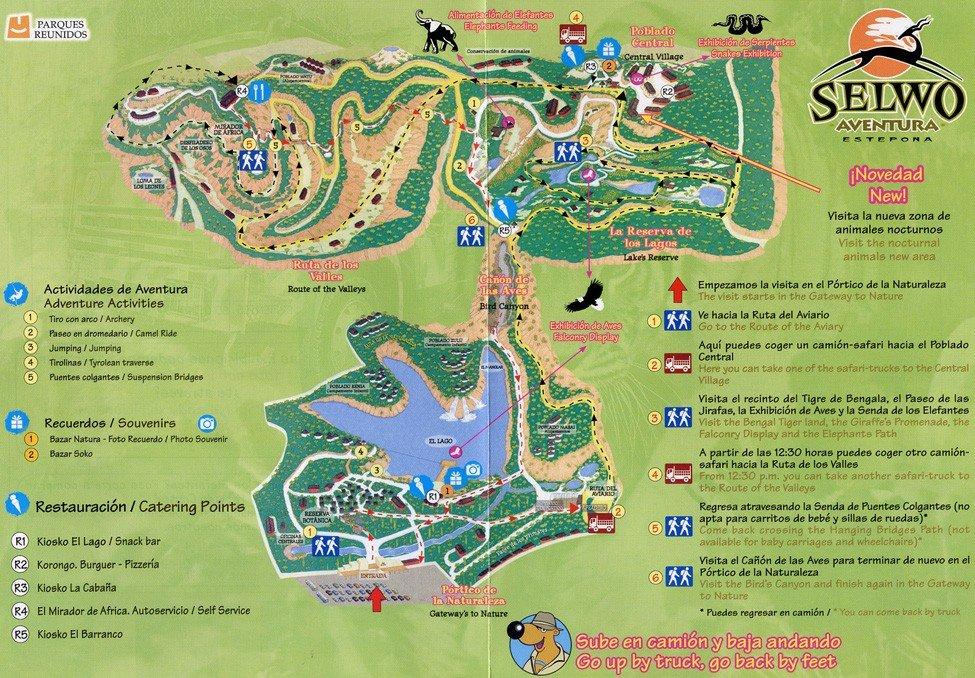 Схема зоопарка ''Selwo