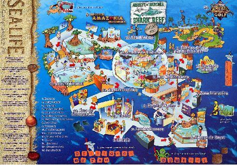 Аквариум ''Sea Life'' карта 1