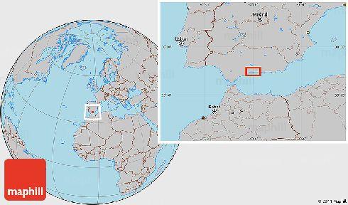 Торремолинос на карте мира