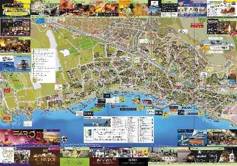Подробная туристическая карта Коста-Адехе