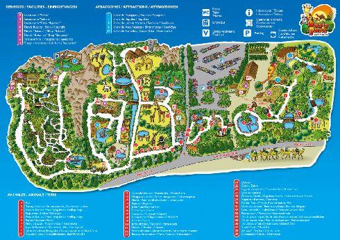 Схема парка ''Oasis Park'' в Фуэртовентуре