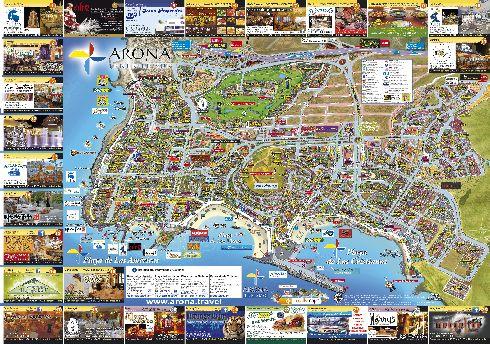 Карта побережий Лас Америкас и Лос Кристианоса