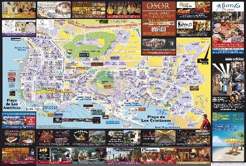 Карта Лос Кристианоса на русском языке