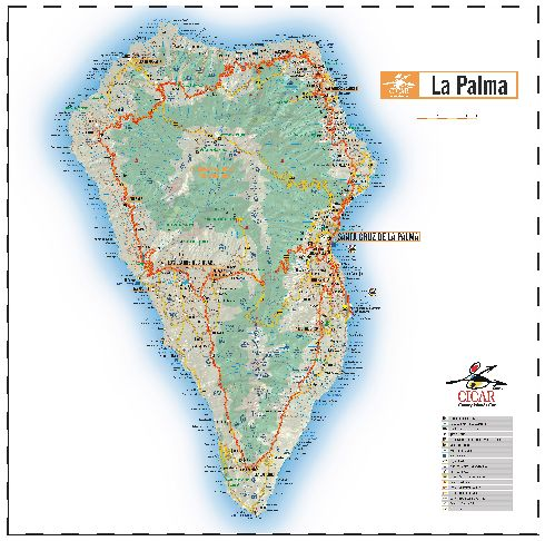 Подробная карта о. Ла-Пальма
