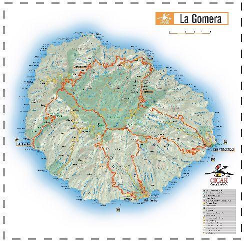 Ла-Гомера карта острова