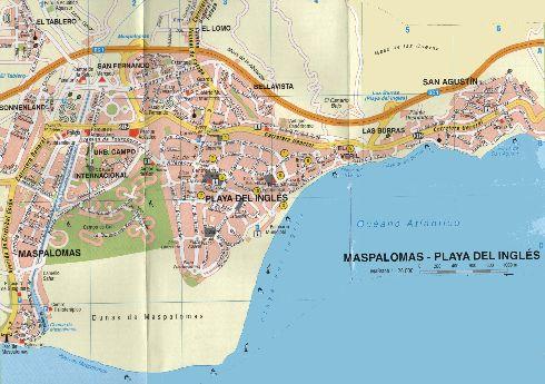 Карта побережья и города Маспаломас