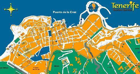 Географическая карта Пуэрто-де-ла-Крус