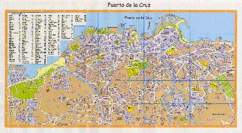 Карта Пуэрто-де-ла-Крус с улицами и районами