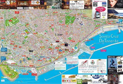 Карта с достопримечательностями столицы о. Тенерифе