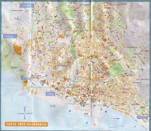Большая подробная карта улиц Санта-Круз-де-Тенерифе