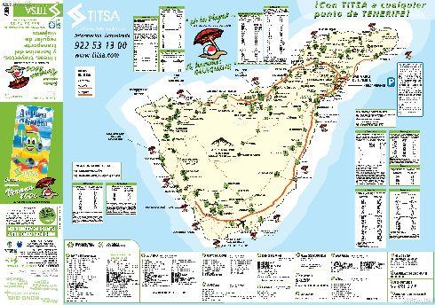 Схема автобусных маршрутов Тенерифе