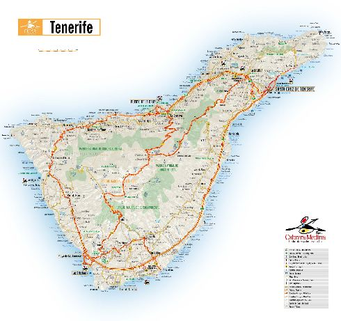 Подробная карта острова Тенерифе