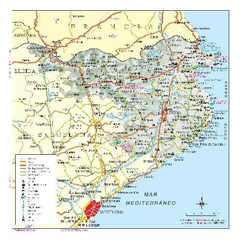 Карта побережья Коста-Бравы