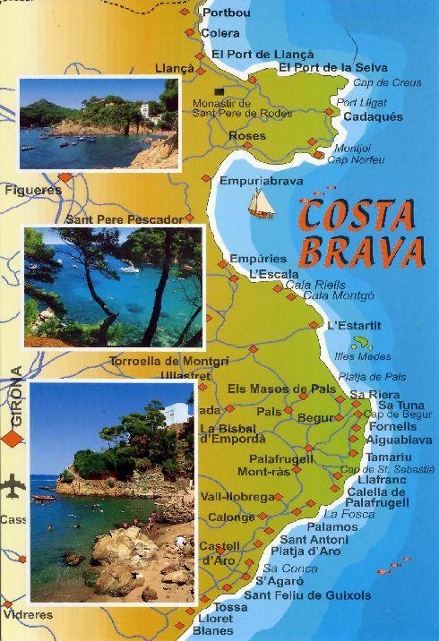 Художественная карта Коста-Бравы 1