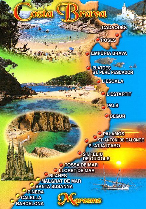 Художественная карта Коста-Бравы 2