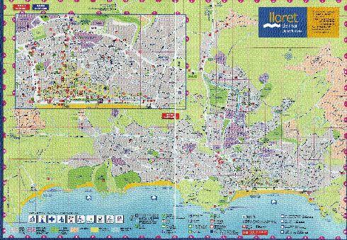 Туристическая карта города Льорет-де-Мар