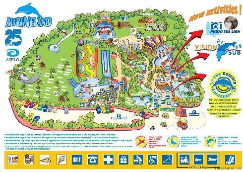 План аквапарка ''Marineland''