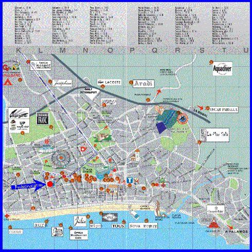 Большая карта Плайа-де-Аро
