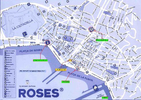 Карта Росеса большого масштаба