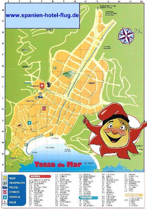 Тосса-де-Мар, карта курорта