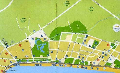 Схематическая карта курорта Ла-Пинеда
