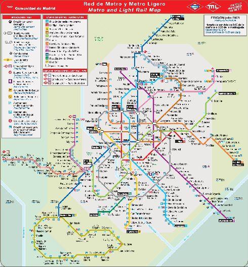 Карта метро Мадрида