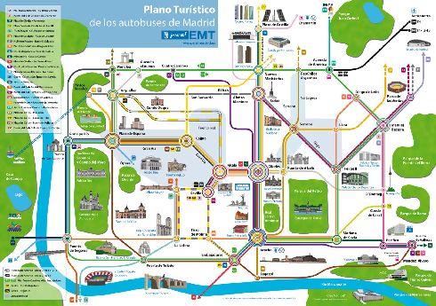 План движения туристических автобусов по Мадриду
