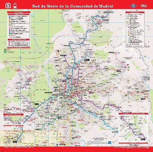 Подробная транспортная карта Мадрида