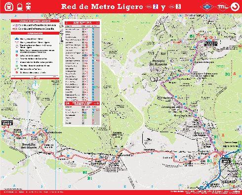 Схема ''лайт метро'' Мадрида
