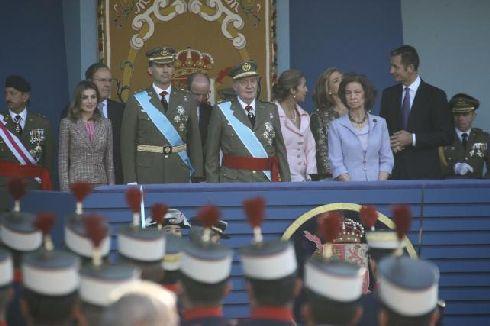 Первые лица государства на национальном празднике страны ''Día de la Hispanidad''