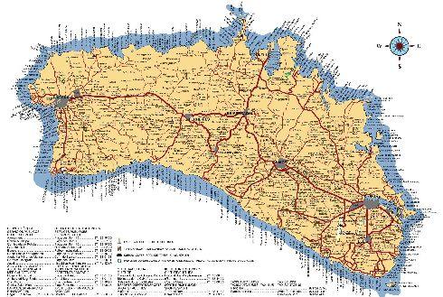 Детальная карта Менорки